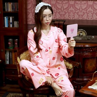 딸기 레이스 순면 홈웨어 잠옷 세트