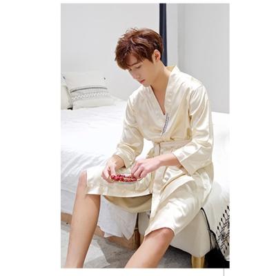 실키나잇 남성 잠옷가운 (골드베이지) (XXL)