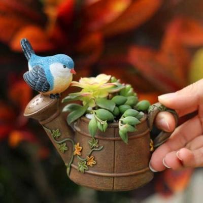 ROOGO 루고화분 정원의손님 파랑새