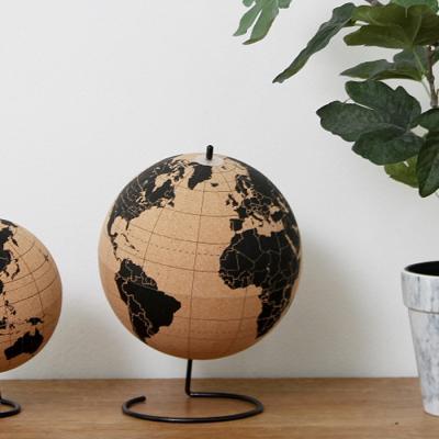20cm 코르크 지구본+우드압정핀