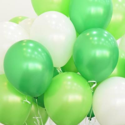 천장장식 펄풍선(헬륨효과)세트-그린톤
