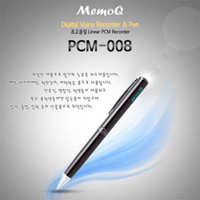 메모큐 PCM_008(1GB)_간편조작 IC방식 ALC리모콘 디지털 음성보이스펜/ 강의회의/ 어학학습/ 영어회화 /볼펜녹음기