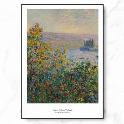 인테리어 명화 액자 포스터 모네 베퇴유의 화단