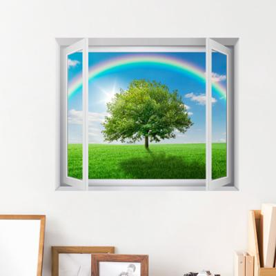 cv391-푸른하늘무지개_풍경모음_창문그림액자(중형)