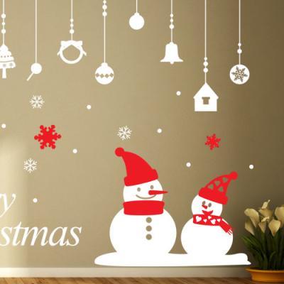 ia405-크리스마스스티커(오너먼트와눈사람)