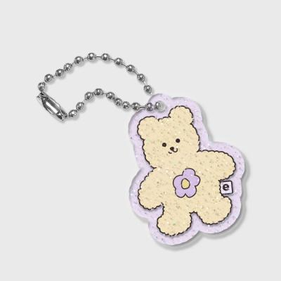 Blossom bear friends-yellow(글리터키링-퍼플)