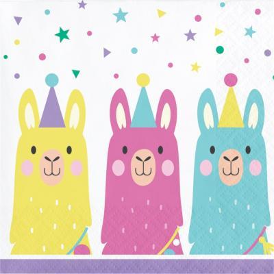 라마 장식용 냅킨 소 CC Llama Party Napkins
