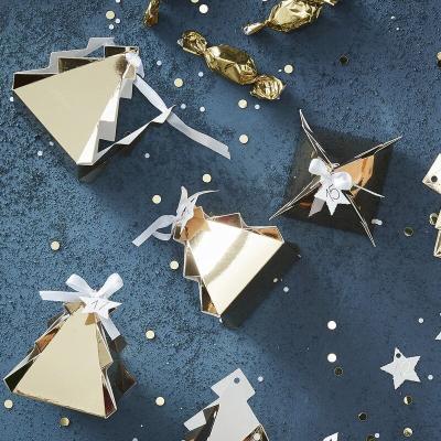 [빛나파티]골드 크리스마스 트리 선물 포장 박스 24개