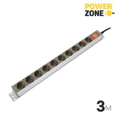 [파워존] 메인일반 알루미늄멀티탭 10구 3M
