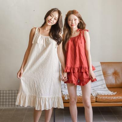 도비면 여름 리본 잠옷 홈웨어 파자마