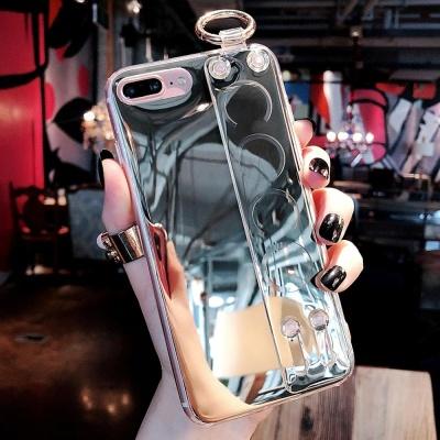 아이폰 XR XSMAX 8 7 미러 스트랩 거치대 젤리 케이스