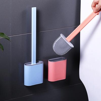부드러운 실리콘 변기솔 벽걸이가능 2컬러