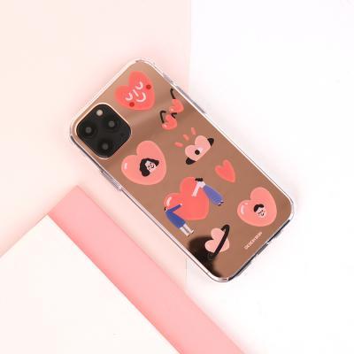 아이폰11프로맥스 미러 그래픽 러브 케이스