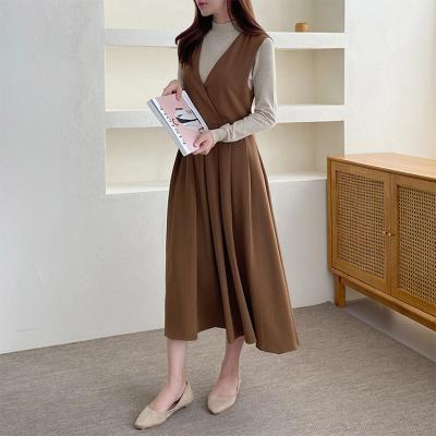 Angela Pleated Long Dress