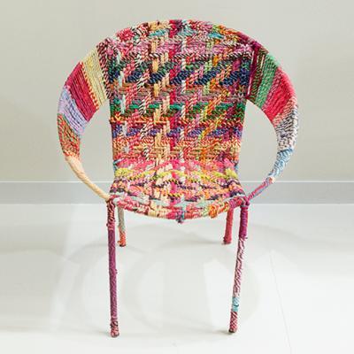 라운드 컬러플 의자