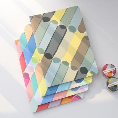AIUEO 모서리가 둥근 컬러풀 패턴 JUICE A5 노트