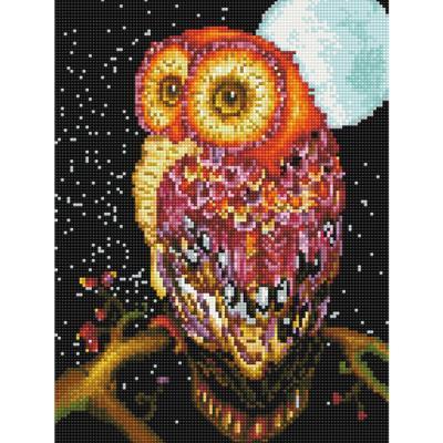 달빛 부엉이 (캔버스형) 보석십자수 30x40