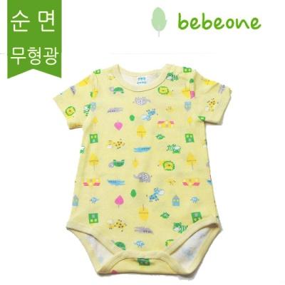 [베베원] 큐티 반팔 바디슈트 유아 아기 출산 백일 돌선물