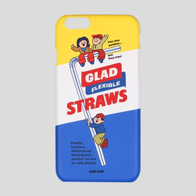 [어프어프] 하드케이스 Straws glad-blue
