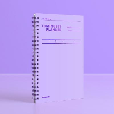 [컬러칩] 텐미닛 플래너 100DAYS - 바이올렛 모트모트