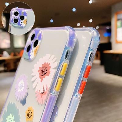 아이폰11 pro max 파스텔 꽃 투명 젤리 범퍼 케이스