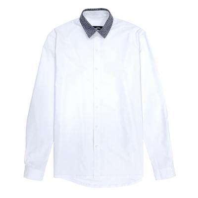 [게타] Getta Grey patterned shirt (White)