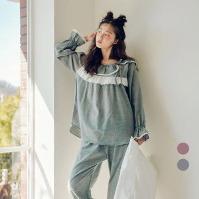 [쿠비카]순면 켈리 체크 투피스 여성잠옷 W421