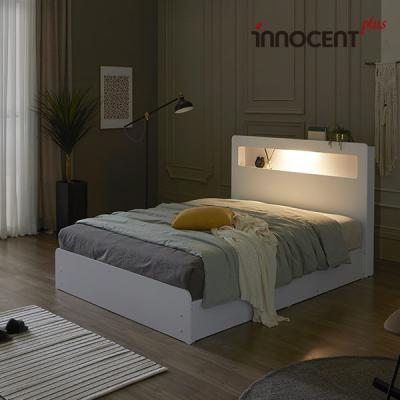[이노센트] 리브 베리나 LED 수납 침대 Q/K