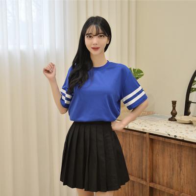 캐주얼 투라인 티셔츠 (6 colors) 유니폼 반티 티셔츠