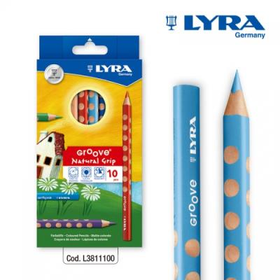 LYRA - 리라 그루브 점보색연필(10색)