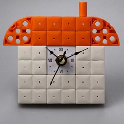 집6 블럭시계 (170239) 블럭레고형시계,조립시계