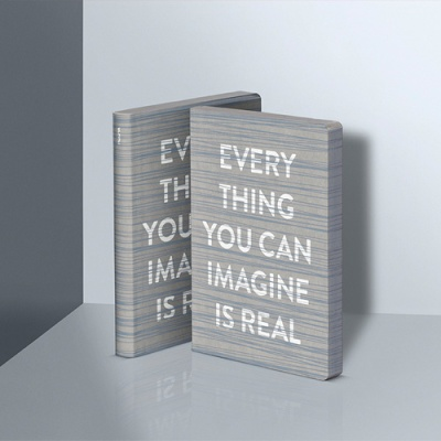 그래픽 노트 라지 - EVERYTHING YOU CAN IMAGINE IS REAL GREY