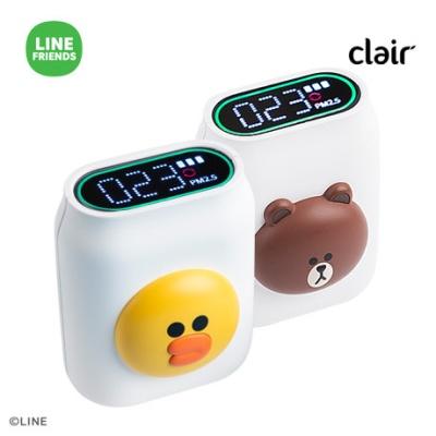 클레어 라인프렌즈 브라운 휴대용 미세먼지 측정기
