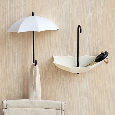 우산모양 벽걸이 후크 3p 벽홀더 인테리어 걸이 고리