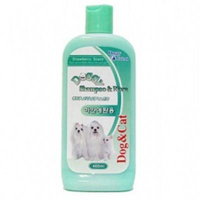 백모 강아지 목욕시키기 400ML 1P 샴푸겸 린스 위생