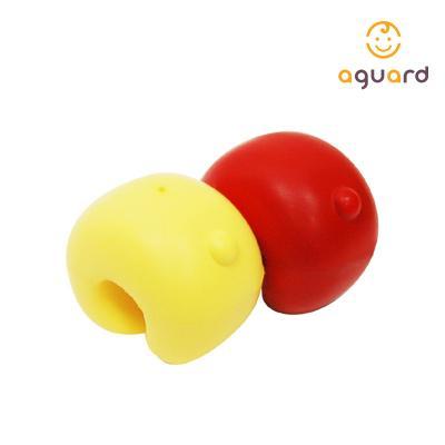 아가드 데코 도어쿠션 빨강 노랑 1입