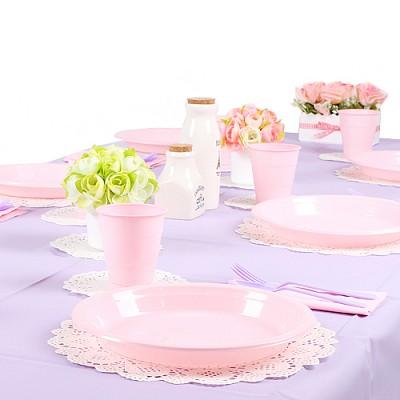 파티테이블셋팅패키지(10인용)-라벤더&핑크