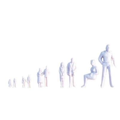 인체모형-백색 (20명) 100:1 (봉) 101939