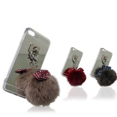 폼폼 퍼 테슬 미러케이스(아이폰6S플러스)