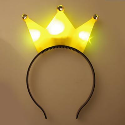 LED 큐빅왕관 머리띠 (옐로우)