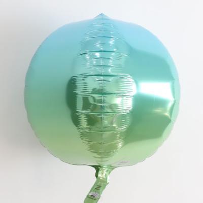 옹브레오브 원형 호일풍선 (블루앤그린)