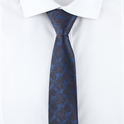 페이즐리 블루 자동 넥타이 N516