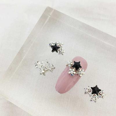 Woman bonita nail parts 큐빅메탈 블랙스타 1개