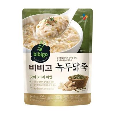 [CJ제일제당] 비비고 녹두닭죽 450gx3팩