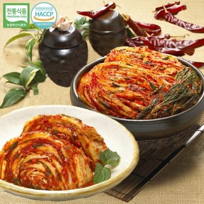 [명가김치] 국내산 포기김치 5kg+맛김치 5kg