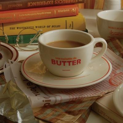 버터 커피잔 세트 컵 앤 소서