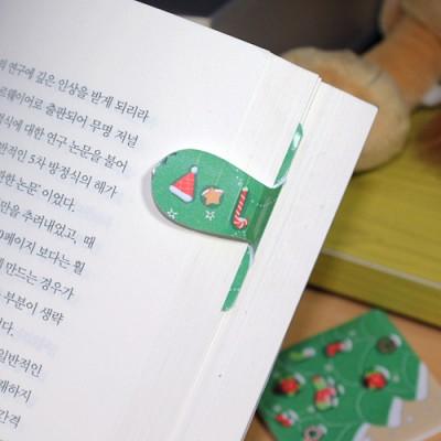 [플라스틱 and 자석 자동책갈피] 자동책갈피 수지인 : 크리스마스