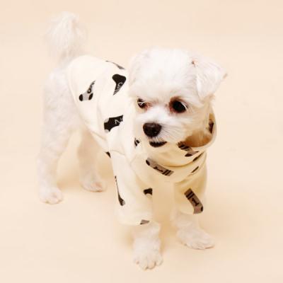 [펫딘]양말 시보리 폴라 배색 강아지옷 티셔츠 화이트