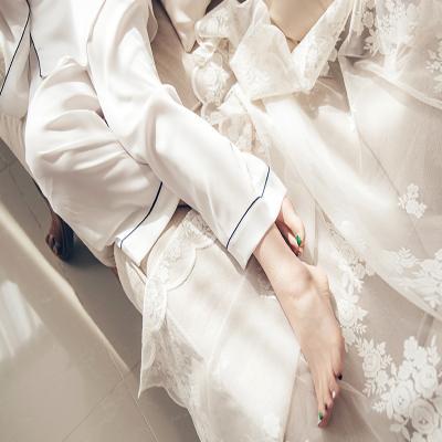 [쿠비카]소프트 샤무즈 3피스 투피스 여성잠옷 W171