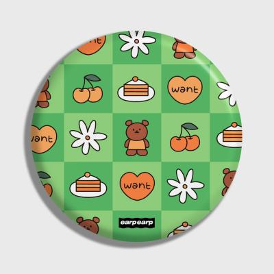 Check kids bear-green(거울)